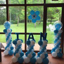Decoración con globos-bautizo3